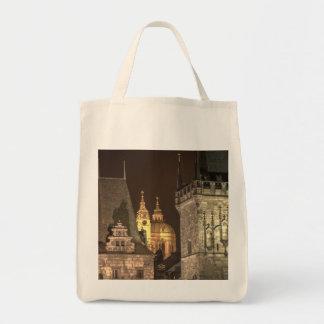 Charles Bridge Towers Night Tote Bag