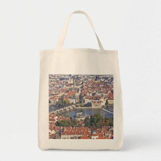 Charles Bridge Vltava River Prague Grocery Tote Bag