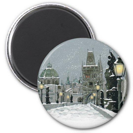 Charles Bridge Winter magnet