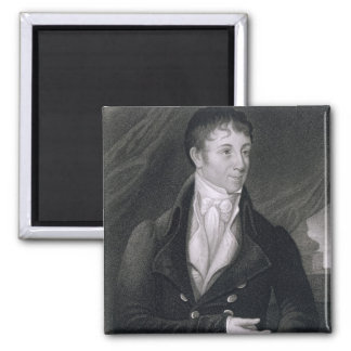 Charles Brockden Brown (1771-1810) engraved by Joh 2 Inch Square Magnet