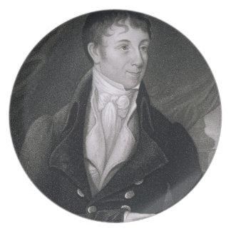 Charles Brockden Brown (1771-1810) engraved by Joh Dinner Plate