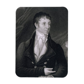 Charles Brockden Brown (1771-1810) engraved by Joh Rectangular Photo Magnet