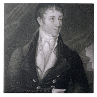 Charles Brockden Brown (1771-1810) grabado por Joh Azulejo Cuadrado Grande