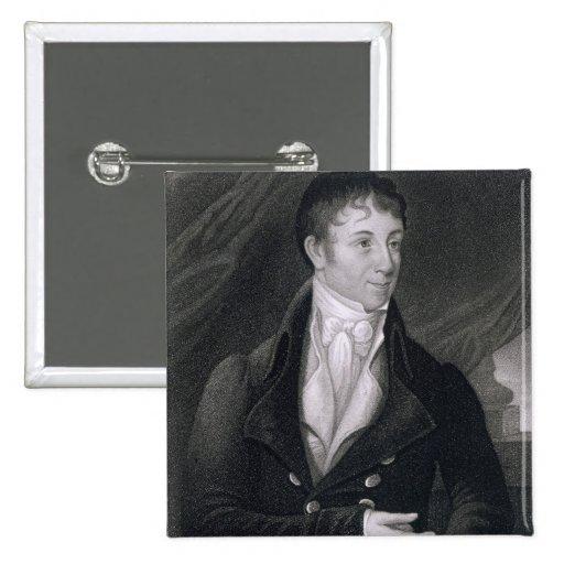 Charles Brockden Brown (1771-1810) grabado por Joh Pin Cuadrada 5 Cm
