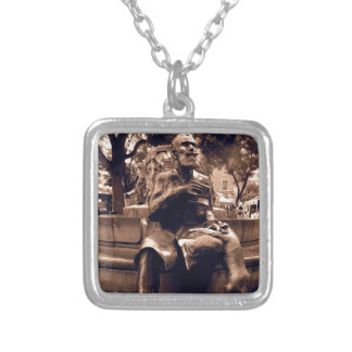 Charles Buls Statue - Brussels Square Pendant Necklace
