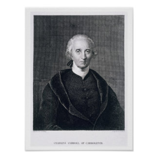 Charles Carroll of Carrollton, engraved by Asher B Poster