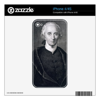 Charles Carroll of Carrollton, engraved by Asher B Skins For iPhone 4