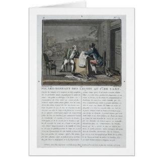 Charles, Chevalier de Folard (1699-1751) instructs Greeting Card