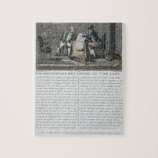 Charles, Chevalier de Folard (1699-1751) instructs Puzzle