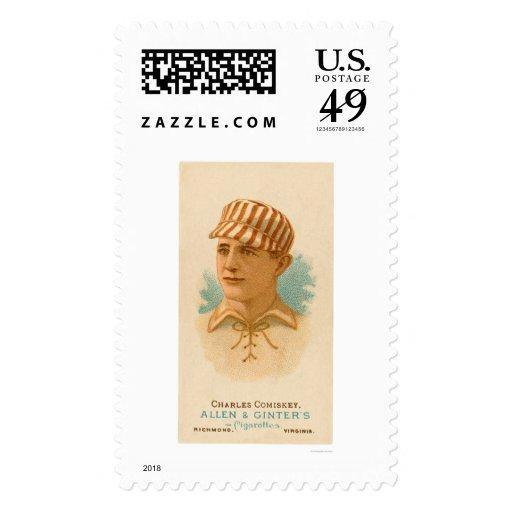 Charles Comiskey Baseball 1887 Postage Stamp