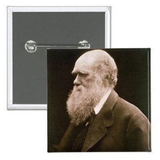 Charles Darwin (1809-82) (foto) Pin Cuadrado