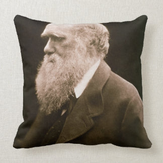 Charles Darwin (1809-82) (photo) Throw Pillow
