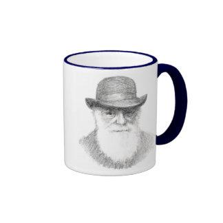 Charles Darwin - Agnostic quote Ringer Coffee Mug
