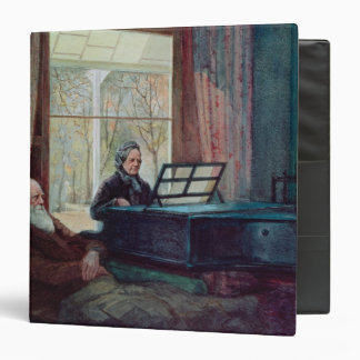 Charles Darwin and his wife at the Piano 3 Ring Binder