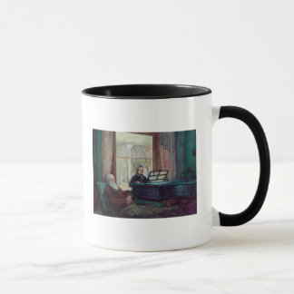 Charles Darwin and his wife at the Piano Mug