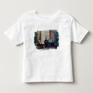 Charles Darwin and his wife at the Piano Toddler T-shirt