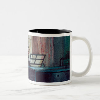 Charles Darwin and his wife at the Piano Two-Tone Coffee Mug