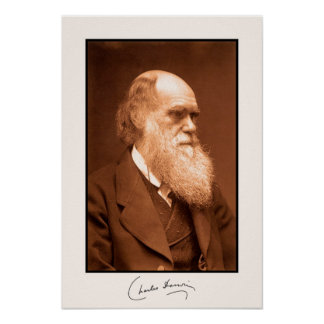 Charles Darwin, autographed Posters