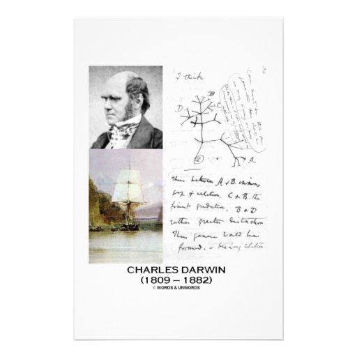 Charles Darwin (beagle Phylogenetics de Darwin Papeleria De Diseño
