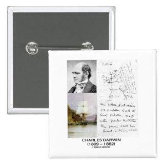 Charles Darwin (beagle Phylogenetics de Darwin Pin Cuadrado