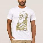 Charles Darwin. Camiseta de los hombres