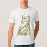 Charles Darwin. Camiseta de los hombres Remera