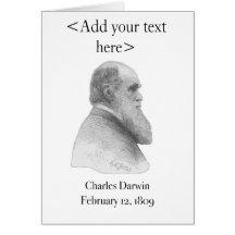 Charles Darwin Card Greeting Cards