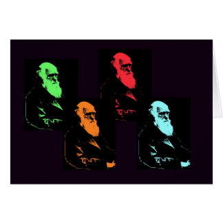 Charles Darwin Collage Card