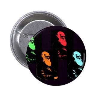 Charles Darwin Collage Pinback Button