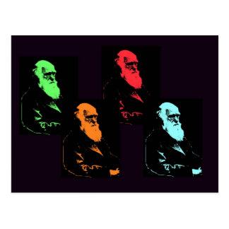 Charles Darwin Collage Postcard