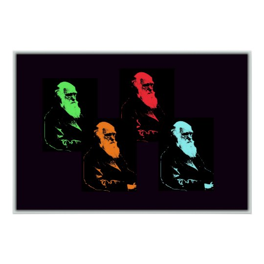 Charles Darwin Collage Poster