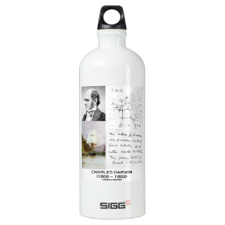 Charles Darwin (Darwin HMS Beagle Phylogenetics) Aluminum Water Bottle
