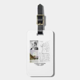 Charles Darwin (Darwin HMS Beagle Phylogenetics) Bag Tag