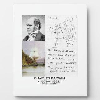 Charles Darwin (Darwin HMS Beagle Phylogenetics) Plaque