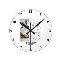 Charles Darwin (Darwin HMS Beagle Phylogenetics) Round Wall Clock