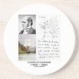 Charles Darwin (Darwin HMS Beagle Phylogenetics) Sandstone Coaster