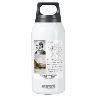 Charles Darwin (Darwin HMS Beagle Phylogenetics) 10 Oz Insulated SIGG Thermos Water Bottle