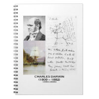 Charles Darwin (Darwin HMS Beagle Phylogenetics) Spiral Notebooks