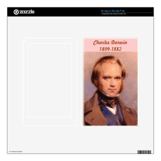 Charles Darwin Decals For Kindle Fire
