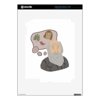 Charles Darwin Decals For The iPad 2