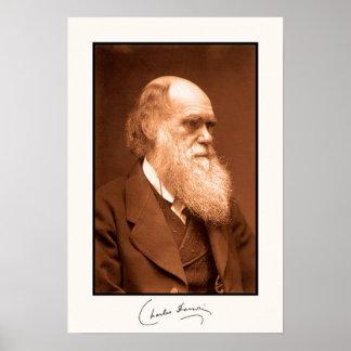 Charles Darwin, dedicado Póster