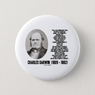 Charles Darwin Golden Rule Observation Memorandum Button