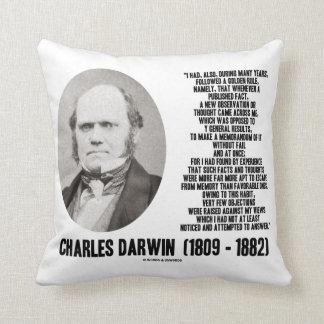 Charles Darwin Golden Rule Observation Memorandum Throw Pillow