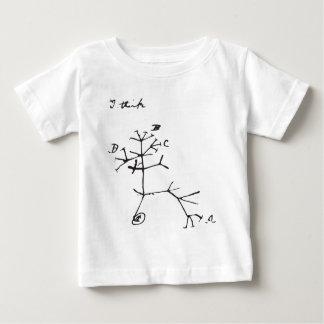 Charles Darwin - I Think (Black) Baby T-Shirt
