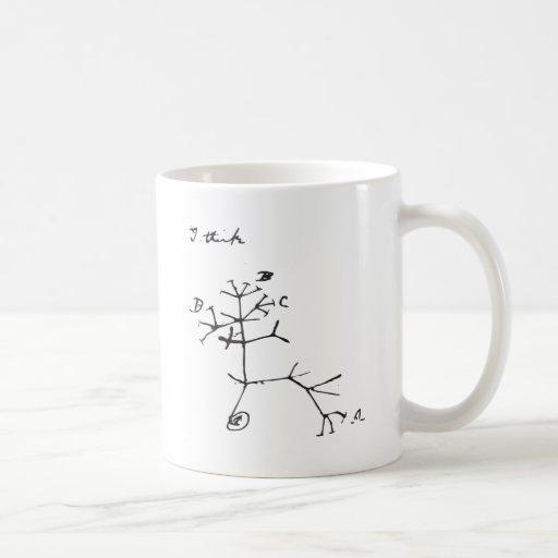 Charles Darwin - I Think (Black) Mug