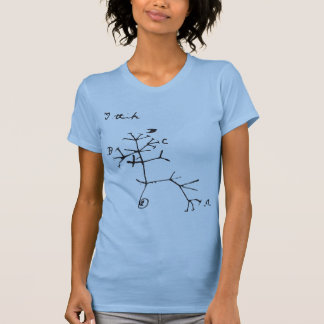 Charles Darwin - I Think (Black) T Shirt