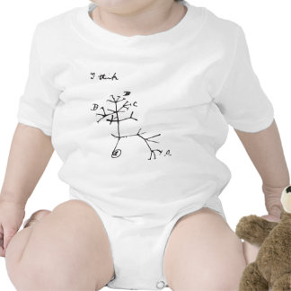 Charles Darwin - I Think (Black) Bodysuits