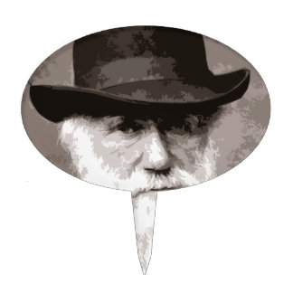 Charles Darwin in 1880, as an old gentleman Cake Toppers