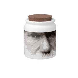 Charles Darwin in 1880, as an old gentleman Candy Jars