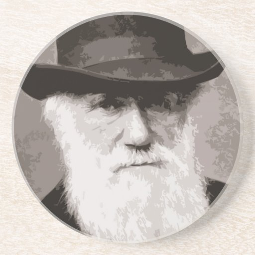 Charles Darwin in 1880, as an old gentleman Drink Coasters